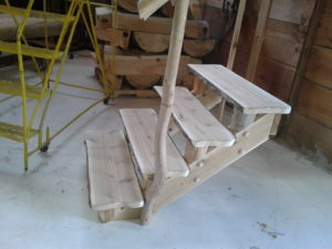 PREMIUM WOODWORKS FOR LOG STAIR SYSTEMS - BY RANDY DANZ