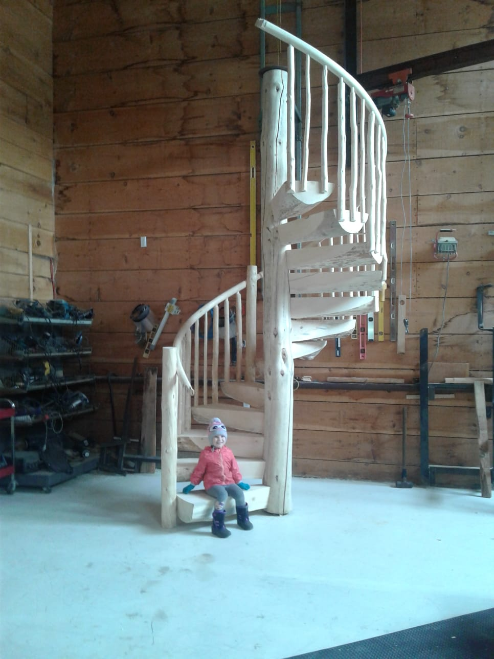 SPIRAL LOG STAIRS