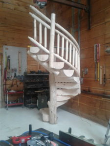 Log Spiral Staircase