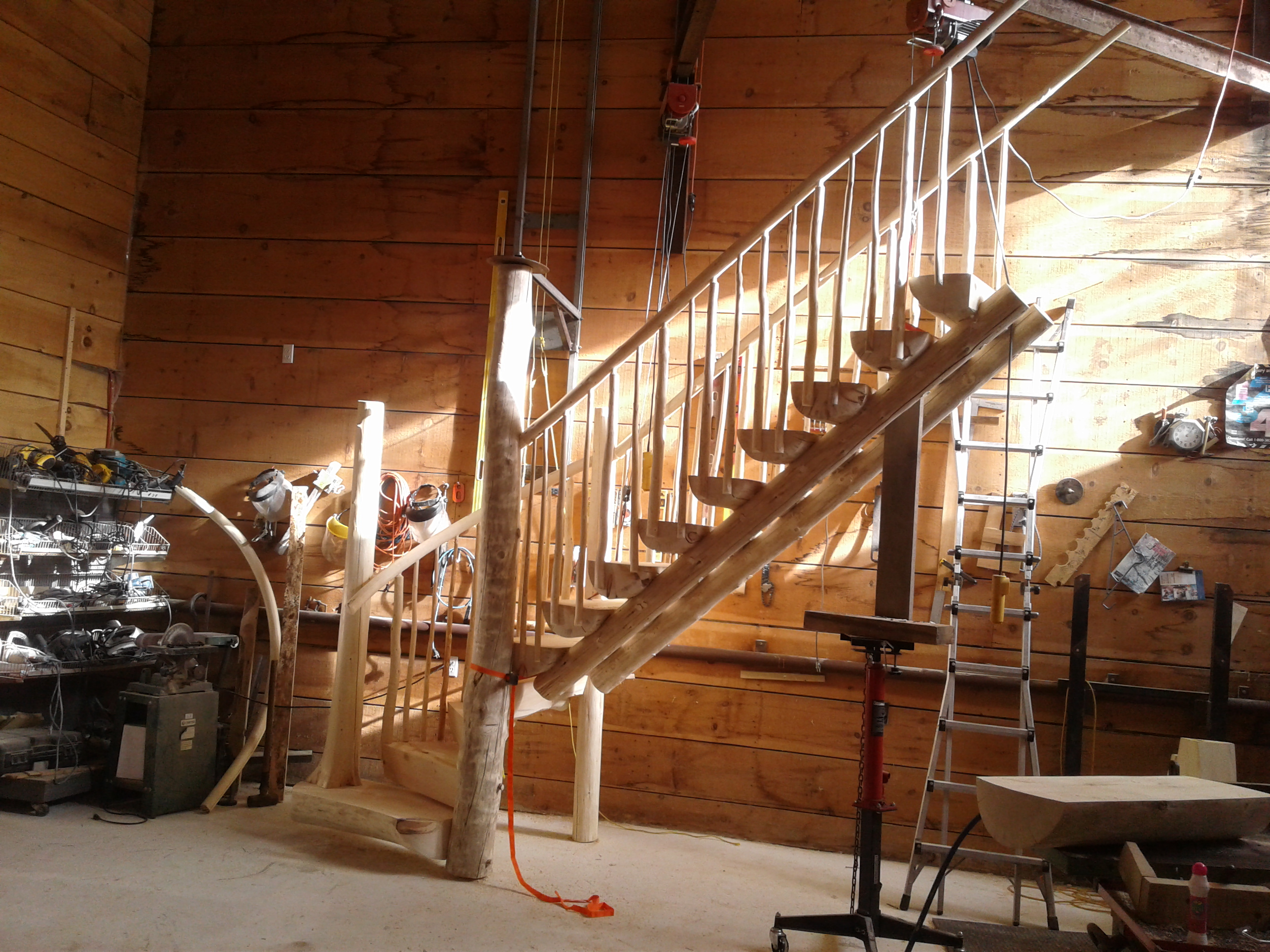 Log Home Porch Railing Ideas