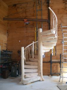 Cabin Stair Railings