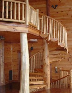 stairs out of logs