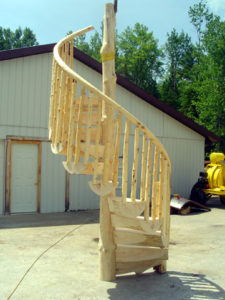 RUSTIC SPIRAL STAIRCASE