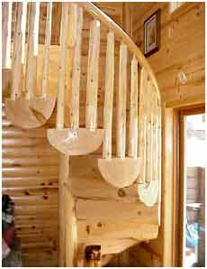 log spiral staircase kits